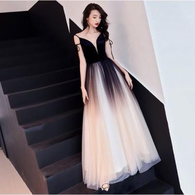 パーティードレス ロング丈 韓国 20代 30代 肩出し 結婚式 二次会 披露宴 お呼ばれ 大きいサイズ ノースリーブ チュール 大人女子