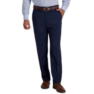 ハガー メンズ カジュアルパンツ ボトムス Men's Houndstooth Classic Fit Flat Front Hidden Expandable Waistband Suit Separate Pants