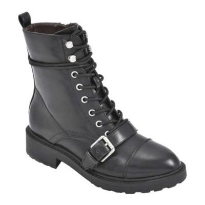 ホワイトマウンテン ブーツ&レインブーツ シューズ レディース Decree Ankle Bootie (Women's) Black Smooth Faux Leather
