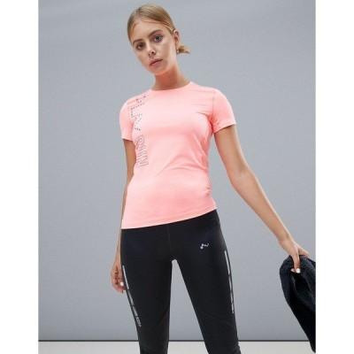 オンリープレイ レディース カットソー トップス Only Play Run Short Sleeve Tee Pink