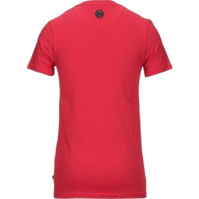 フィリップ プレイン PHILIPP PLEIN メンズ Tシャツ トップス T-Shirt Red