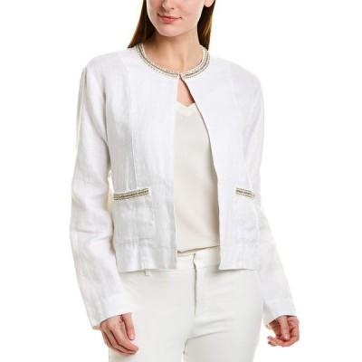 トッミーバハマ ジャケット&ブルゾン アウター レディース Tommy Bahama Linen Jacket white