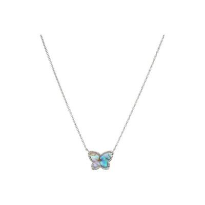ケンドラスコット ネックレス・チョーカー・ペンダントトップ アクセサリー レディース Lillia Butterfly Pendant Necklace Rhodium Iridescent Abalone