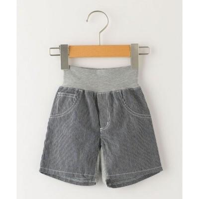 パンツ SHIPS KIDS:ベビー ヒッコリー ショーツ(80〜90cm)