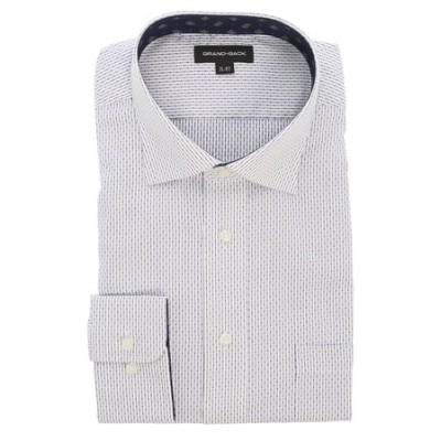 【大きいサイズ】グランバック/GRAND-BACK 形態安定ワイドカラー長袖ビジネスドレスシャツ/ワイシャツ