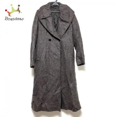 ミキミアリー コート サイズ38 M レディース 美品 - ダークブラウン 長袖/ロング丈/冬   スペシャル特価 20210727