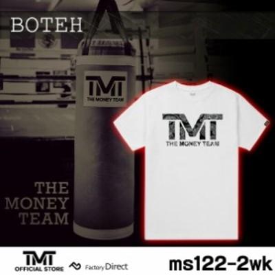 tmt-ms122-2wk ザ・マネーチーム Tシャツ BOTEH 白ベース×ペイズリーロゴ フロイド・メイウェザー ボクシング メンズ ホワイト プリント