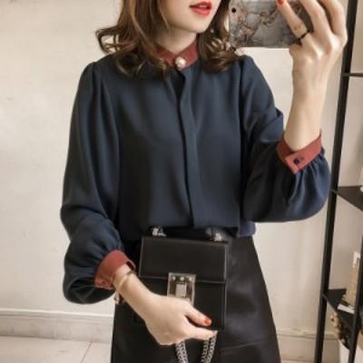 上品なシフォンシャツ 綺麗め 大きいサイズ 韓国 ファッション 結婚式 レディース トップス シャツ ブラウス 大人可愛い 大人女子