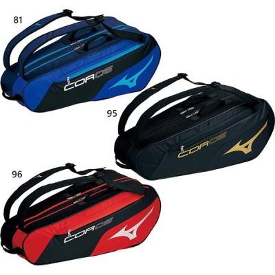 6本収納 ミズノ メンズ レディース ラケットバッグ コア6 COR06 鞄 シューズポケット サイドポケット テニス 63JD1002