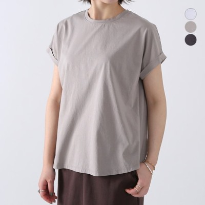 【21SSコレクション】MICA&DEAL〔マイカアンドディール〕M00E014CUヘムラウンドロールアップハーフスリーブTシャツ