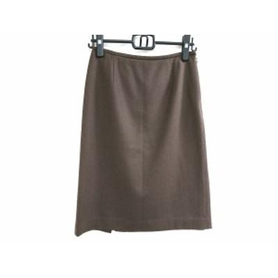 フィガロ パリ FIGARO Paris スカート サイズ38 M レディース 美品 ダークブラウン【中古】20210115
