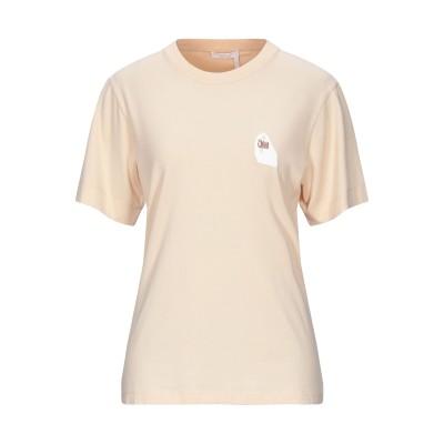 クロエ CHLOÉ T シャツ ベージュ M コットン 100% T シャツ