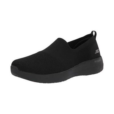 Skechers Women's GO Walk Joy Deluxe Stretch FIT Sneaker, Black