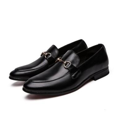 ローファーシューズ メンズ ビジネスシューズ スリッポン ウイングチップ 革靴 イギリス風  レザー ローカット