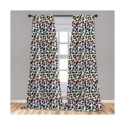 Ambesonne Leopard Print Window Curtains Classical Savannah Mammal Skin Patt