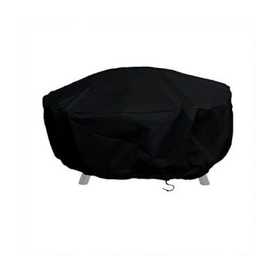 【送料無料】Sunnydaze Outdoor Round Fire Pit Cover with Drawstring and Toggle Closure - Heavy Duty Weather-Resistant Black 300D Polyes
