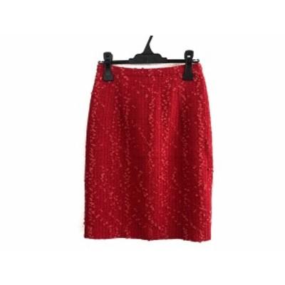 ジャンバティスタヴァリ GiAMBATTiSTA VALLi スカート サイズS レディース - レッド ひざ丈【中古】20201011