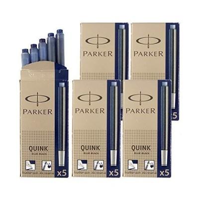 パーカー PARKER カートリッジインク クインク QUINK ブルーブラック 5箱セット (1箱 5本入り) S1162220 S011