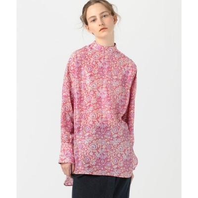 【SOULEIADO】シルクプリント チュニックシャツ