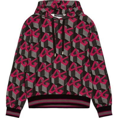 ドルチェ&ガッバーナ Dolce & Gabbana メンズ パーカー トップス Hoodie Logo/Black