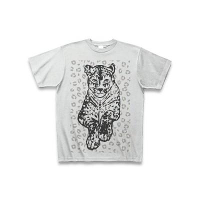 豹柄ON豹(グレー) Tシャツ(アッシュ)