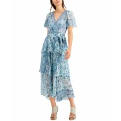 カルバンクライン レディース ワンピース トップス Tiered A-Line Dress Jungle Multi