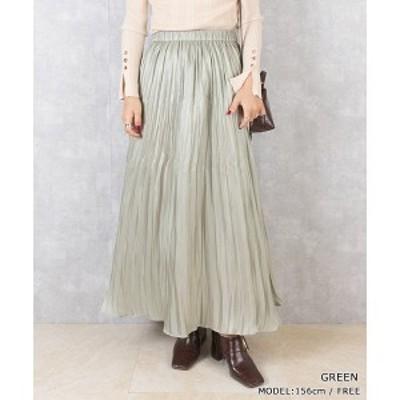 【NEW】ランダ(RANDA)/<20秋冬新作>シャイニープリーツスカート