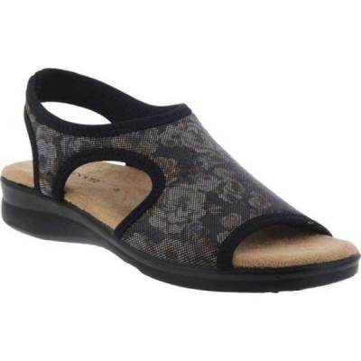 スプリングステップ Flexus by Spring Step レディース サンダル・ミュール シューズ・靴 Nyaman Slip On Sandal Black Multi Rose