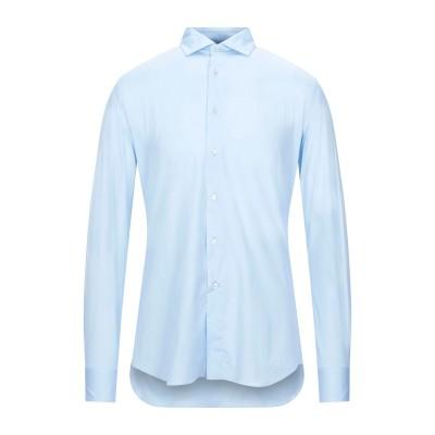 XACUS シャツ スカイブルー 45 コットン 96% / ポリウレタン 4% シャツ