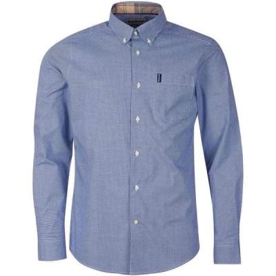 バブアー Barbour メンズ シャツ トップス Gingham 23 Tailored Shirt Inky Blue BL