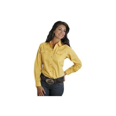 ウエスタン カウボーイ トップス ブラウス 海外セレクション Roper Western Shirt レディース L/S Snap Solid イエロー 03-050-0265-1030 YE