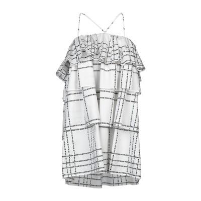 エムエスジーエム MSGM ミニワンピース&ドレス ホワイト 38 コットン 100% ミニワンピース&ドレス