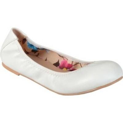 ジュルネ コレクション Journee Collection レディース スリッポン・フラット バレエシューズ シューズ・靴 Lindy2 Ballet Flat White Fa