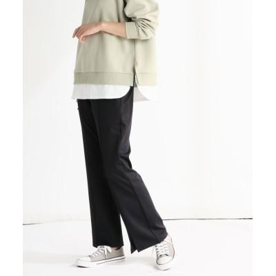 (Honeys/ハニーズ)裾スリットパンツ/レディース ブラック