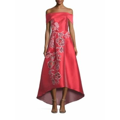 サッチン & バビ レディース ワンピース Michelle Off-The-Shoulder Floral Applique Gown