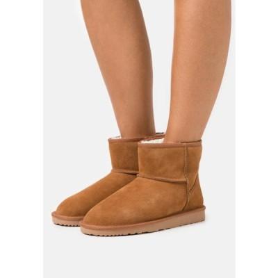 レディース 靴 シューズ LEATHER - Winter boots - cognac