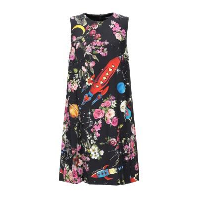 ドルチェ & ガッバーナ DOLCE & GABBANA ミニワンピース&ドレス ブラック 36 レーヨン 100% ミニワンピース&ドレス