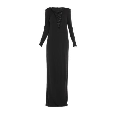 トム フォード TOM FORD ロングワンピース&ドレス ブラック 42 レーヨン 100% ロングワンピース&ドレス