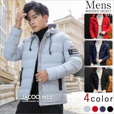 ジャケット メンズ コート 冬アウター ショート丈 フード付き 厚手コート 防寒 2019新品 送料無料