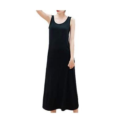 [アズルテ] マキシ ワンピース レディース ファッション ノースリーブ 部屋着 ロング ワンピ インナー inner wear one-p