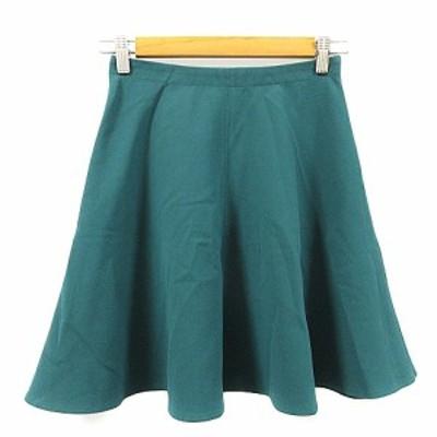 【中古】ベアトリス BEATRICE スカート フレア ミニ 36 緑 グリーン /AAM40 レディース