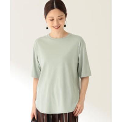 Demi-Luxe BEAMS / スムース ハーフスリーブ Tシャツ