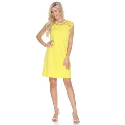ホワイトマーク ワンピース トップス レディース Women's Pelagia Dress Yellow