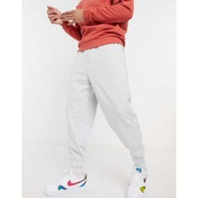 エイソス メンズ カジュアルパンツ ボトムス ASOS DESIGN oversized sweatpants in white marl White marl