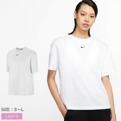 (ゆうパケット可) ナイキ Tシャツ レディース エッセンシャル BF ショートスリーブ トップ NIKE CT2588 ホワイト 白 トップス クルーネック 100