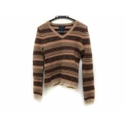 ラルフローレン RalphLauren 長袖セーター サイズS レディース ライトブラウン×ダークブラウン×ベージュ【中古】20200130