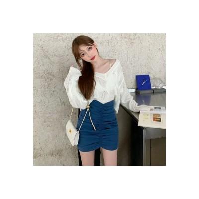 【送料無料】秋 セット 女 ルース オーバーサイズ 長袖セーター セーター ハイウエスト   364331_A63588-2743696