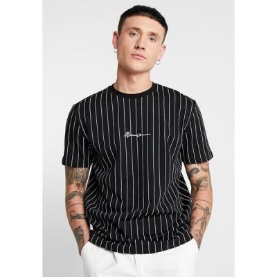 メンナス Tシャツ メンズ トップス TEE WITH EMBROIDERY - Print T-shirt - black
