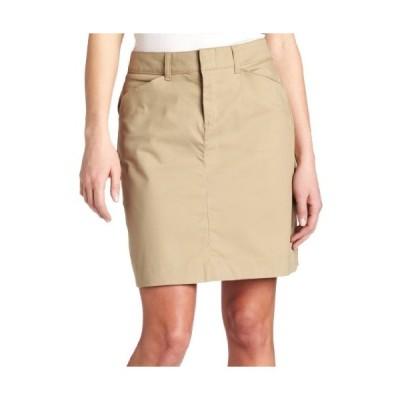 Dickies - - 女性の膝丈スカート, 8, Khaki