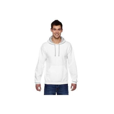 アンブランデッド 発汗 パーカー Men's Sofspun Hooded White Sweatshirt